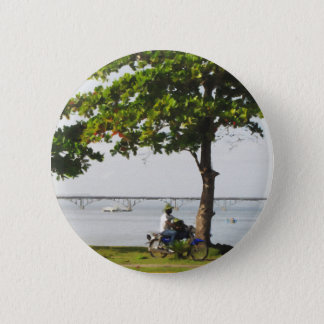 Riding in the Caribbean 2 Inch Round Button