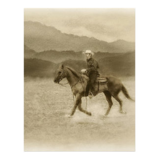 Riding in the Desert Antiqued Letterhead Template