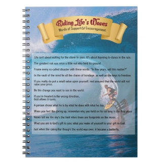Riding Life's Waves - Support & Encouragement Spiral Note Book