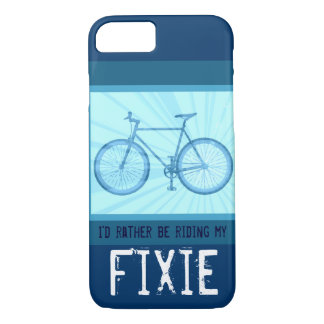 Riding My Fixie Bike Vintage Bicycle iPhone 7 case