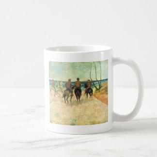 Riding On The Beach By Gauguin Paul (Best Quality) Basic White Mug