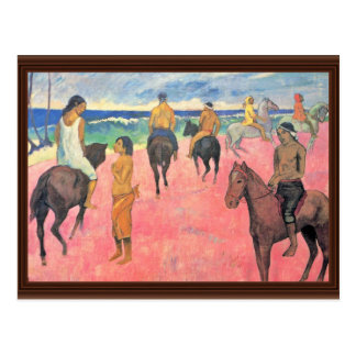 Riding On The Beach By Gauguin Paul (Best Quality) Postcard