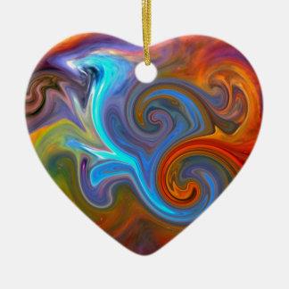 Riding Orion Ceramic Heart Ornament