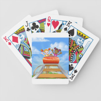 Riding Roller Coaster Bicycle Playing Cards