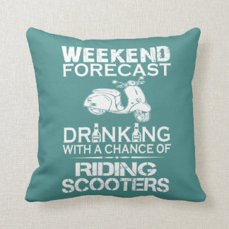 RIDING SCOOTERS THROW PILLOW
