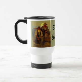 Riding Shotgun Riders Side-seat Western-esque Travel Mug