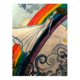 Riding the Rainbow Postcard