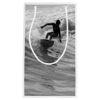 Riding The Wave Grayscale Small Gift Bag