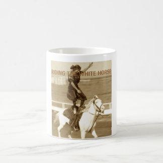 Riding The White Horse Coffee Mug