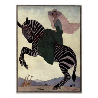 Riding the Zebra Poster