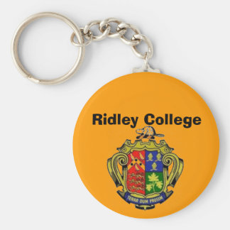 Ridley College Crest Basic Round Button Keychain