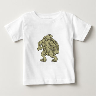 Ridley Sea Turtle Martial Arts Stance Drawing Baby T-Shirt