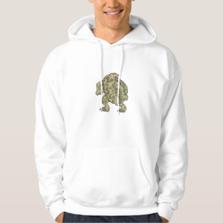 Ridley Sea Turtle Martial Arts Stance Drawing Hoodie