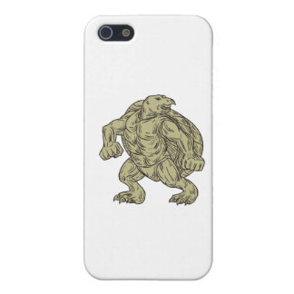 Ridley Sea Turtle Martial Arts Stance Drawing iPhone 5/5S Covers