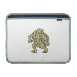 Ridley Sea Turtle Martial Arts Stance Drawing Sleeve For MacBook Air