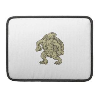 Ridley Sea Turtle Martial Arts Stance Drawing Sleeve For MacBooks
