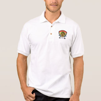 Ridley Turtle At Helm Crest Retro Polo Shirt