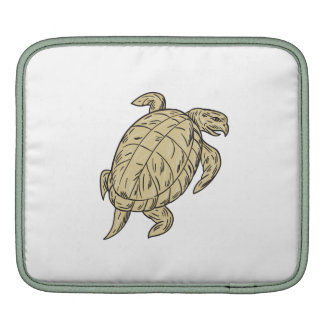 Ridley Turtle Drawing iPad Sleeves