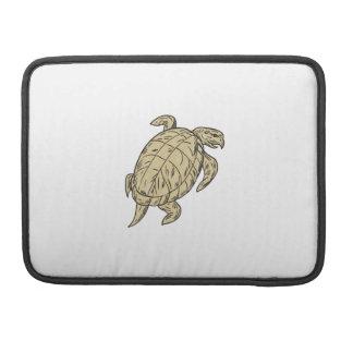 Ridley Turtle Drawing MacBook Pro Sleeves