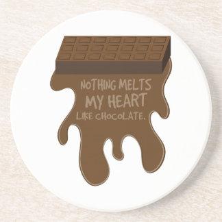 Rien ne fond mon coeur comme le chocolat dessous de verre