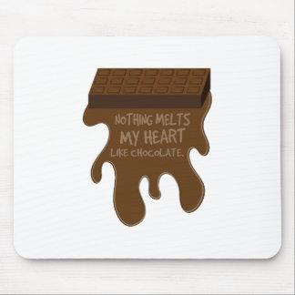 Rien ne fond mon coeur comme le chocolat tapis de souris