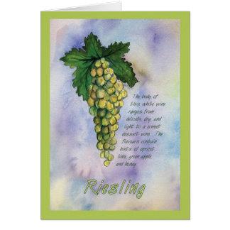 Riesling Wine Grape Greeting Card
