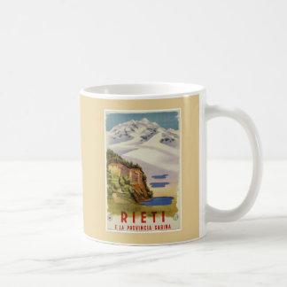 Rieti Sabina vintage Italian travel poster Coffee Mug