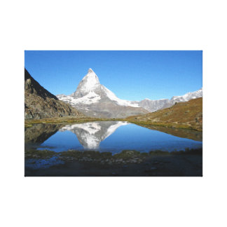 Riffelsee Matterhorn reflection Canvas Print