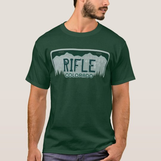 Rifle Colorado guys license plate tee