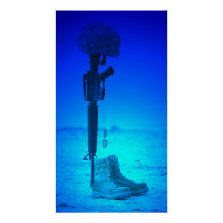 Rifle Dog Tags Boots Poster