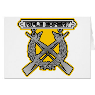 Rifle Expert Badge Greeting Card