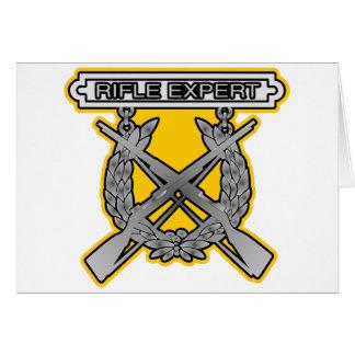 Rifle Expert Badge Greeting Card