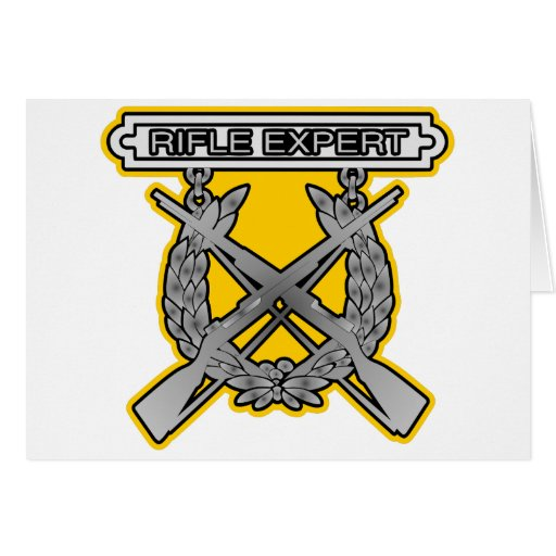 Rifle Expert Badge Cards