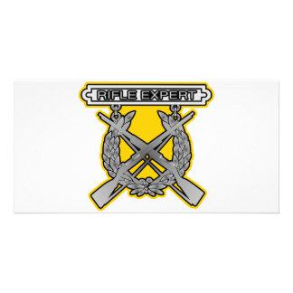 Rifle Expert Badge Photo Greeting Card