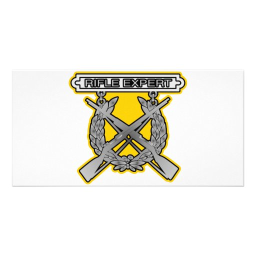 Rifle Expert Badge Photo Greeting Card