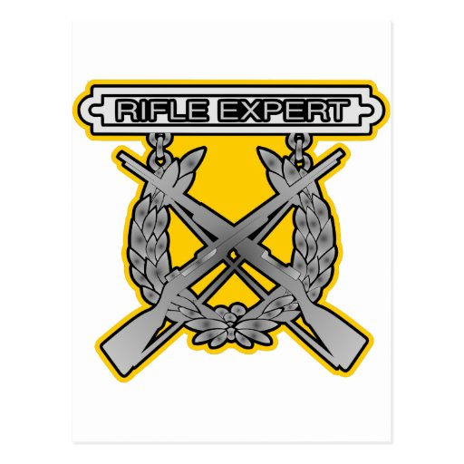 Rifle Expert Badge Post Card
