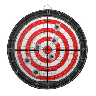 Rifle Scope and Target Dartboard