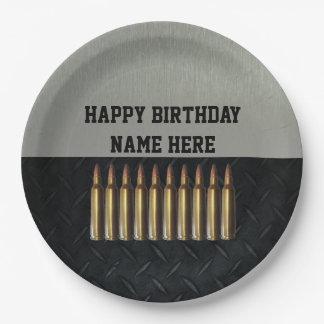 Rifleman Men's Birthday Name Party Plates