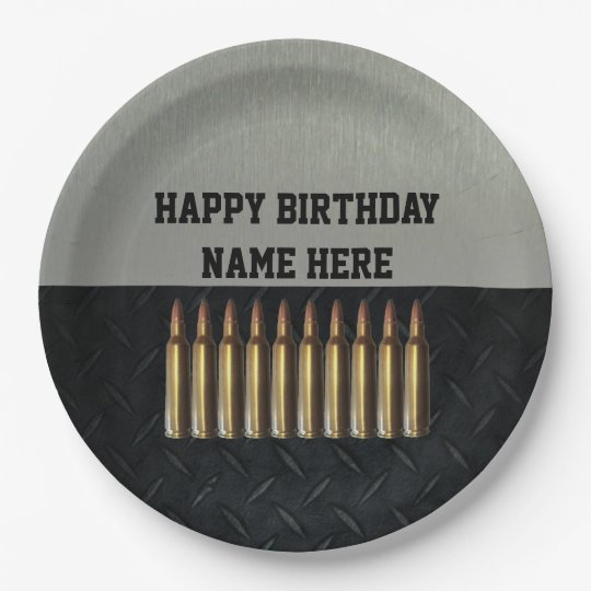 Rifleman Men's Birthday Name Party Plates