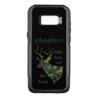 Rifles, Racks and Deer Tracks Camo Custom Hunting OtterBox Commuter Samsung Galaxy S8+ Case