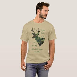 Rifles, Racks and Deer Tracks Camouflage Hunting T-Shirt