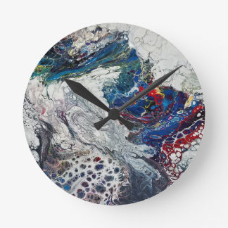 """Rift"" Abstract Art Clock"