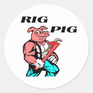 Rig Pig Round Sticker