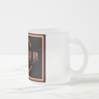 RIG UP LOGO FROSTED GLASS COFFEE MUG