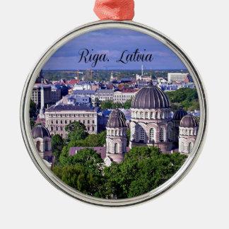 Riga, Latvia cityscape Metal Ornament