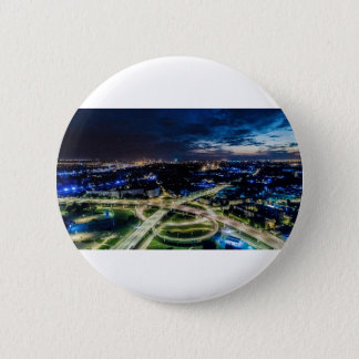 Riga Night Skyline 2 Inch Round Button