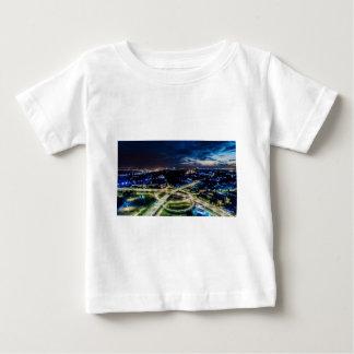 Riga Night Skyline Baby T-Shirt