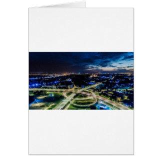 Riga Night Skyline Card