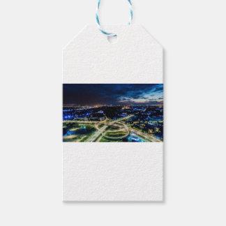 Riga Night Skyline Gift Tags