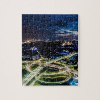 Riga Night Skyline Jigsaw Puzzle
